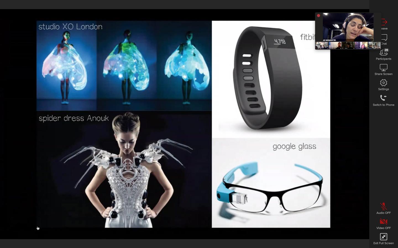 Screenshot fo the first Fabricademy class - Recent Wearable Designs