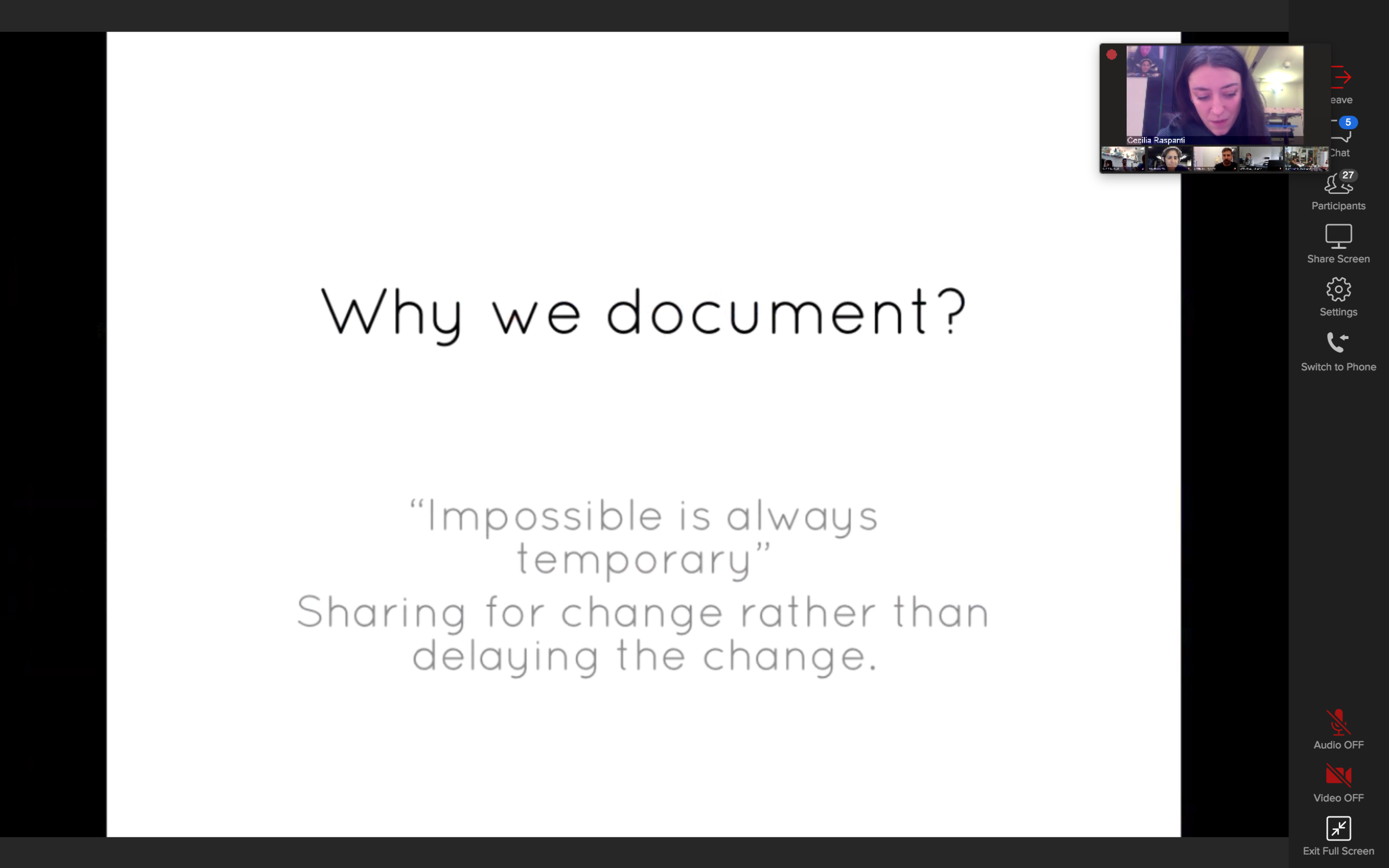 Screenshot of the first Fabricademy class - Why document