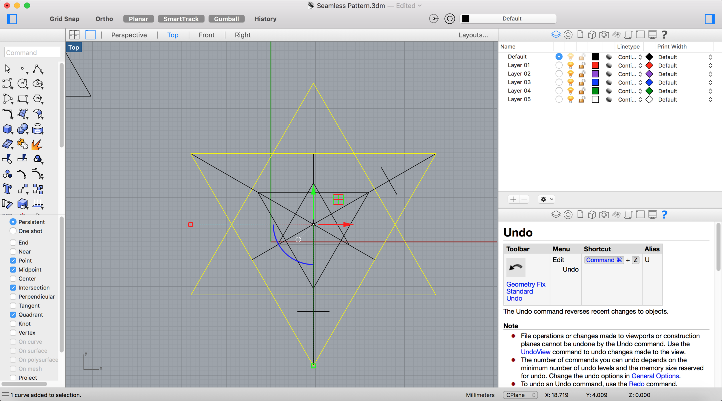 The two triangles superimposed create a hexagonal shape. I find this interesting and want to further explore this idea.