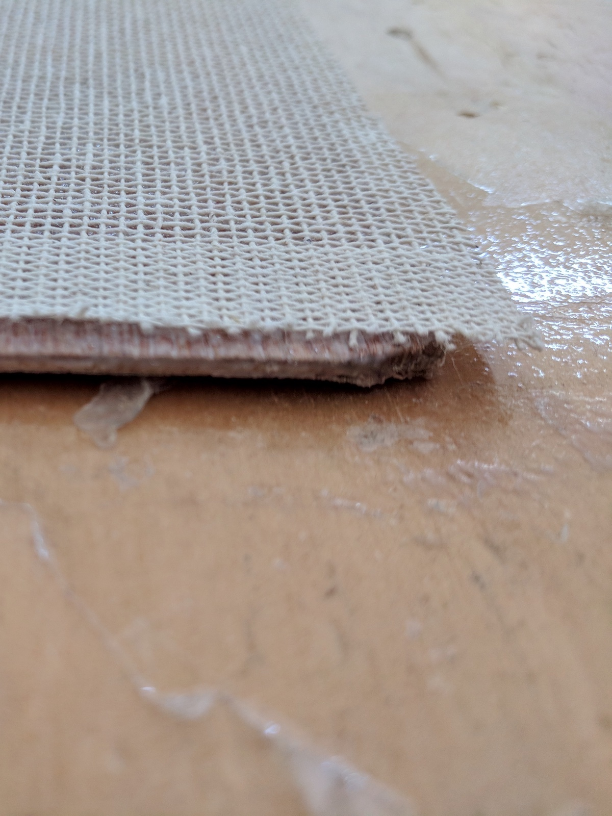 STEP 5 - Make sure the jute and wood are evenly attached