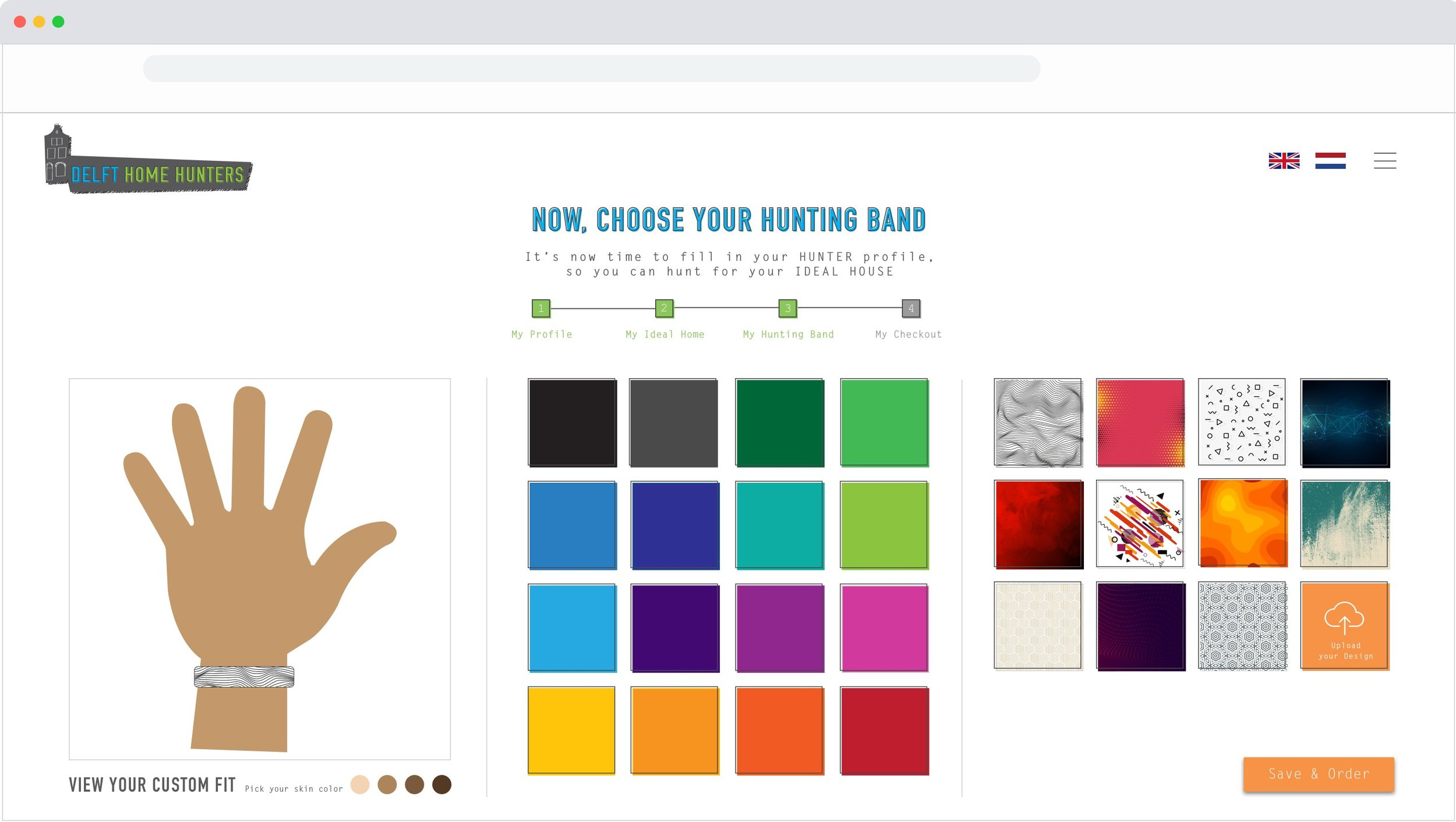 """5. The Hunting Band - Here the Home Hunter chooses the style of the active RFID wristband that will allow them to """"hunt"""" for housemates in the city."""