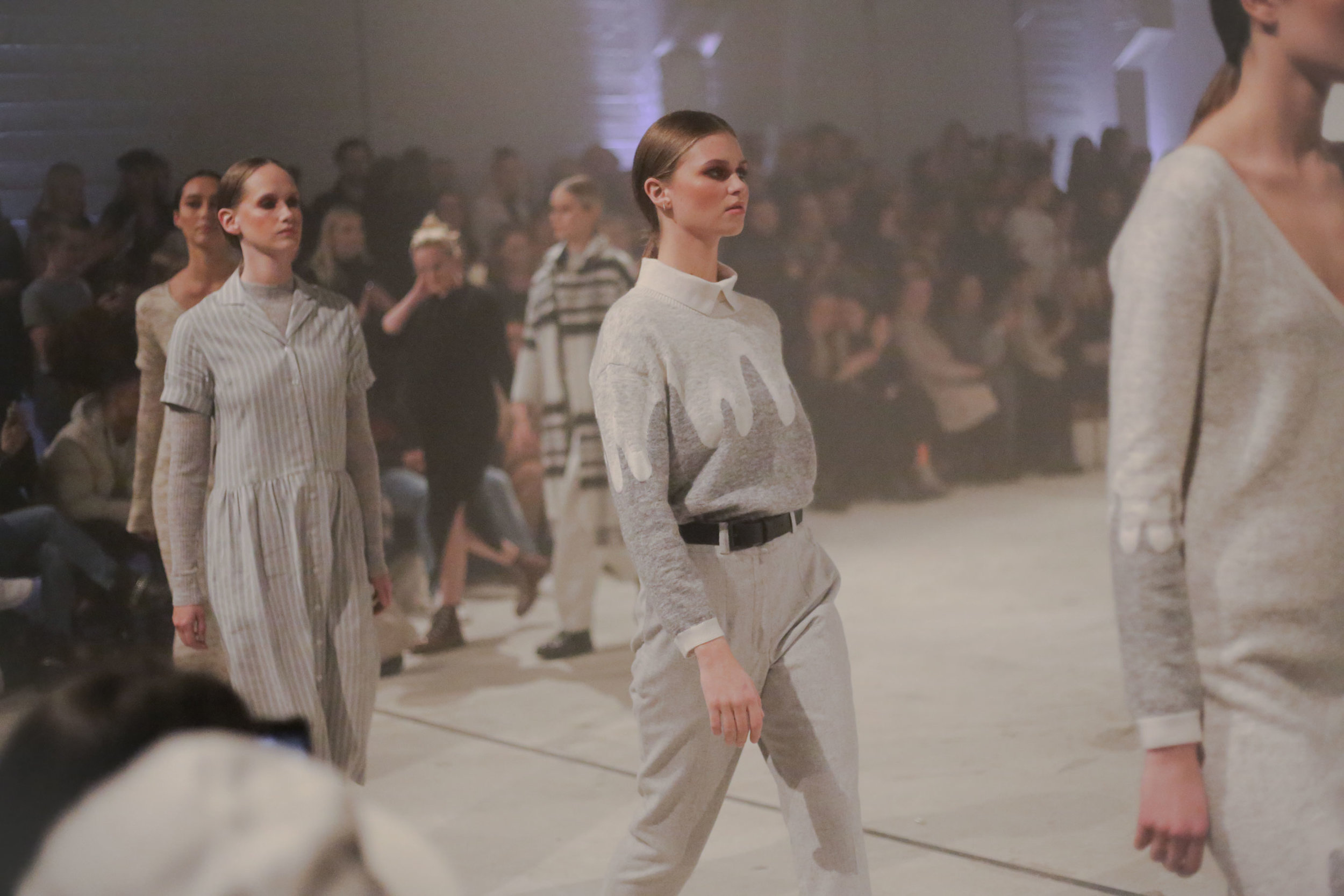 The fashion brand Geysir fashion show under Reykjavik fashion week summer 2017.  Wool garments designed with inspiration from the Icelandic nature.