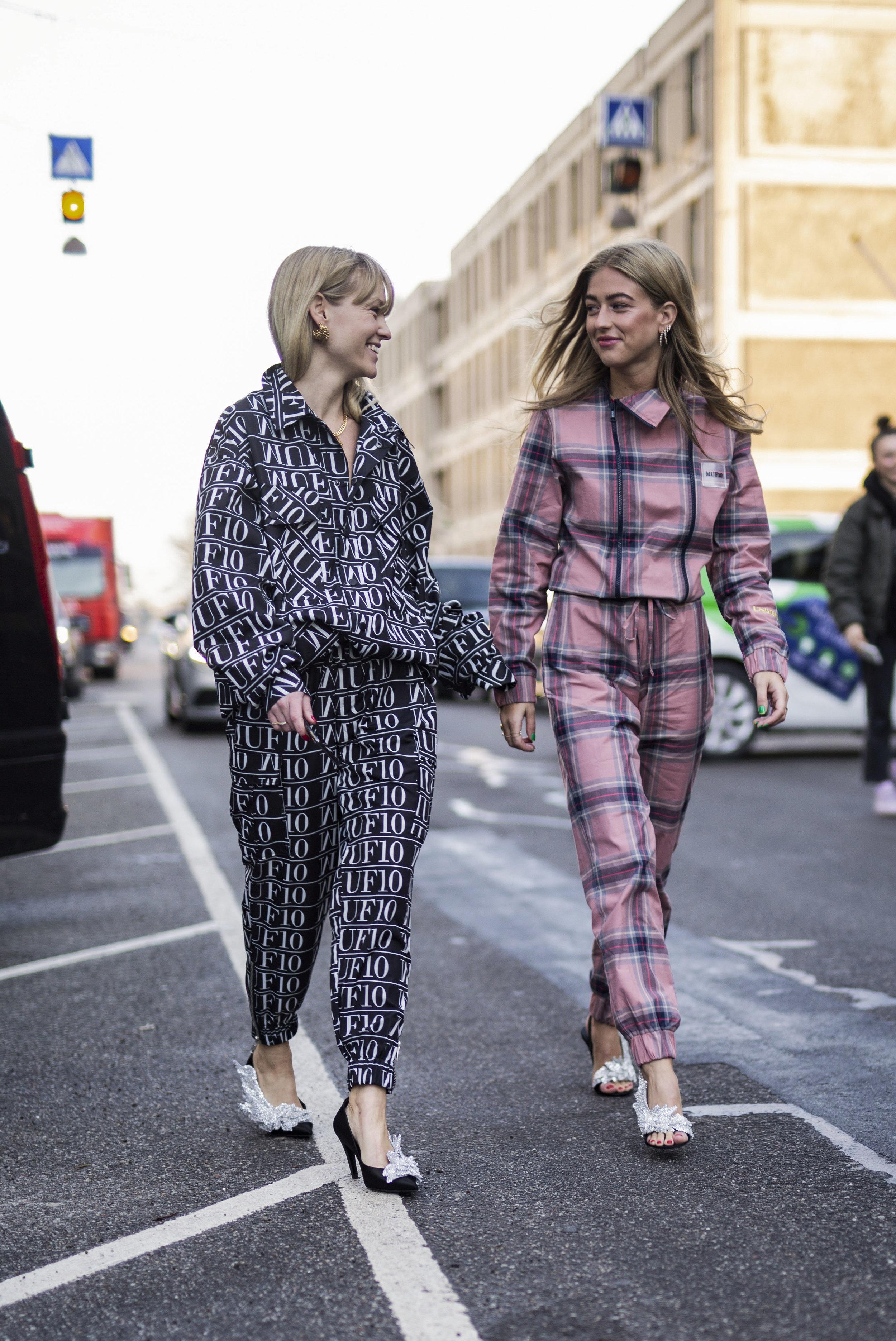 Fun times, Jeanette Madsen and Emili Sindlev during Copenhagen Fashion Week