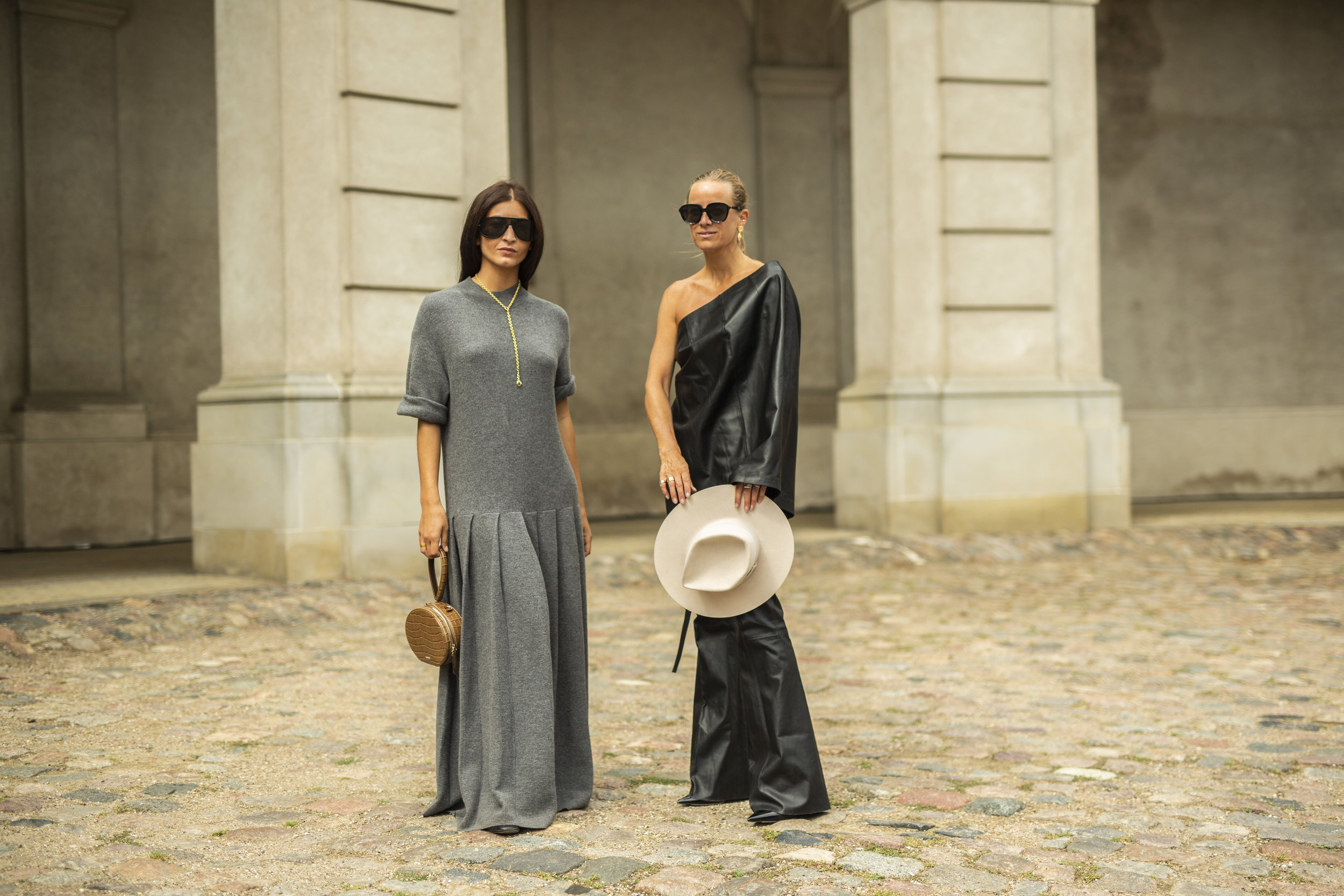 Best street style looks from Copenhagen Fashion Week CPHFW Spring Summer 2020 The Streetland influencer Celina Aagaard and Katarina Petrovic