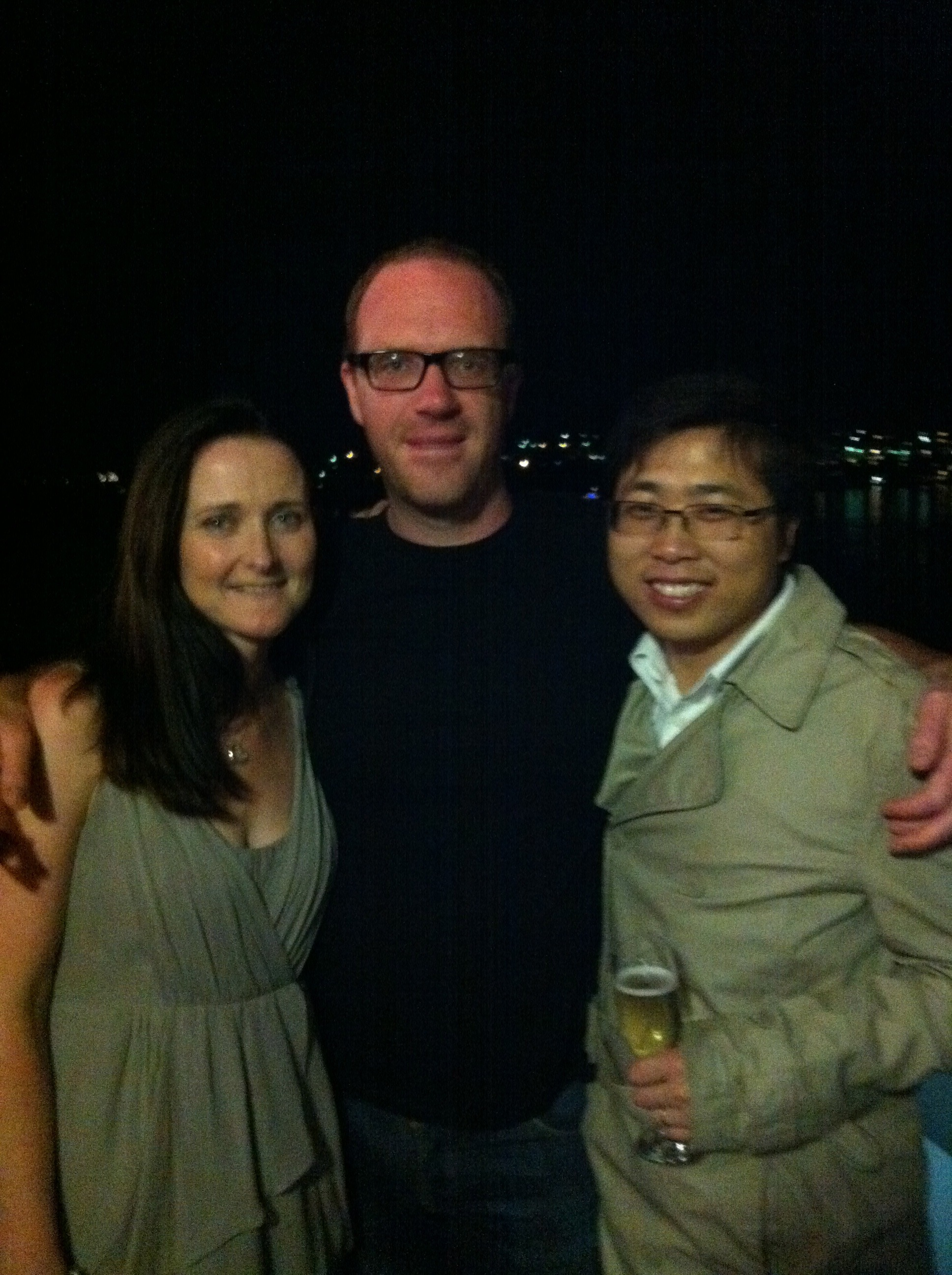 Felicity, Greg and Inspector Wang, Garvan Christmas party 2011