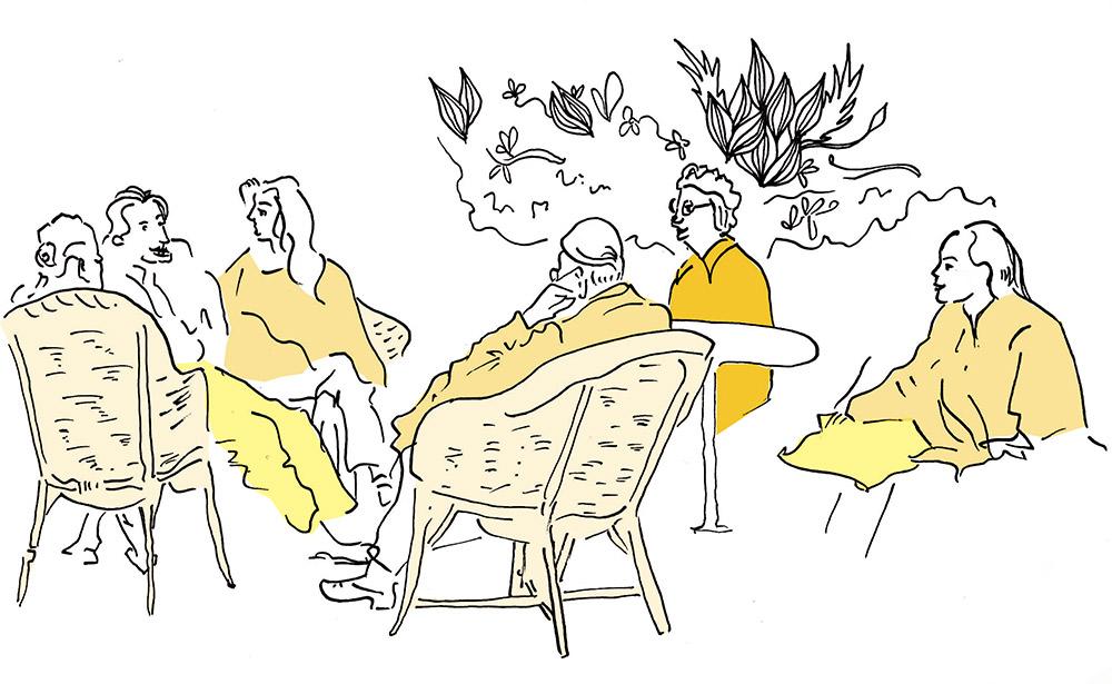 illustration : Milena Lutzker, librement inspiré d'un dessin de Kundera