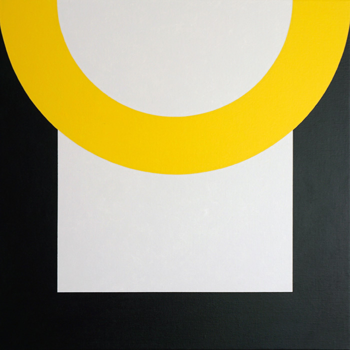 SEMICIRCLE OVER SQUARE  60 x 60 x 2,5 cm Acrylic on canvas 2016     ropp schouten