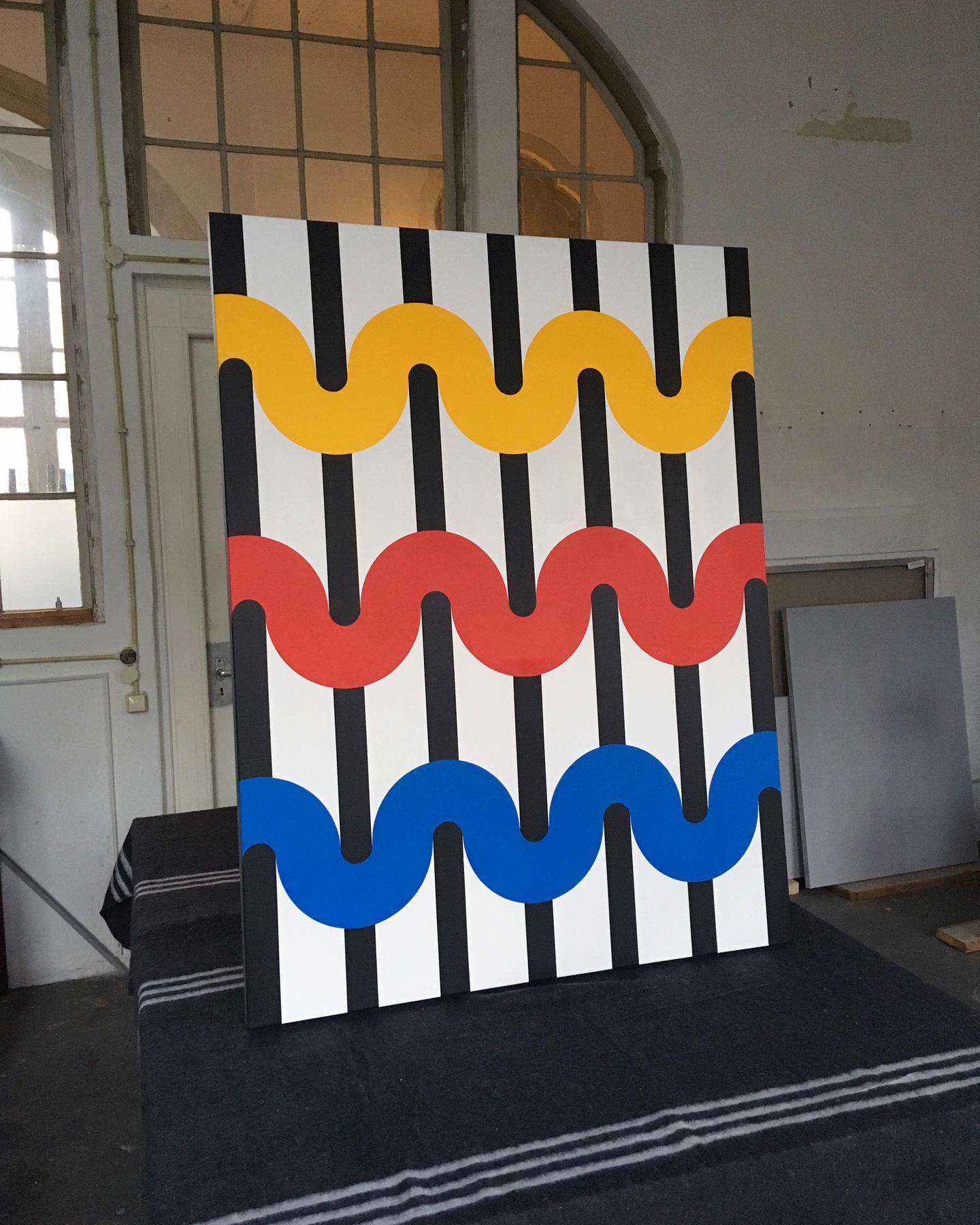 55  95 x 125 x 4,5 cm Acrylic on canvas 2017     ropp schouten