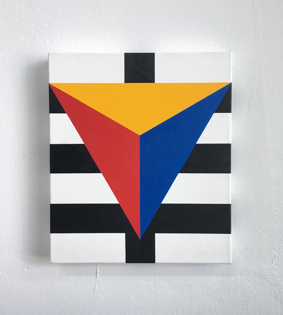 Vidya  30 x 35 x 3.5 Acrylic on canvas 2018    _  ropp schouten