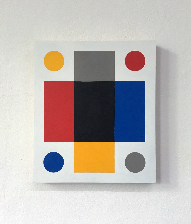 459  30 x 35 x 3.6 Acrylic on wood 2018    _  ropp schouten