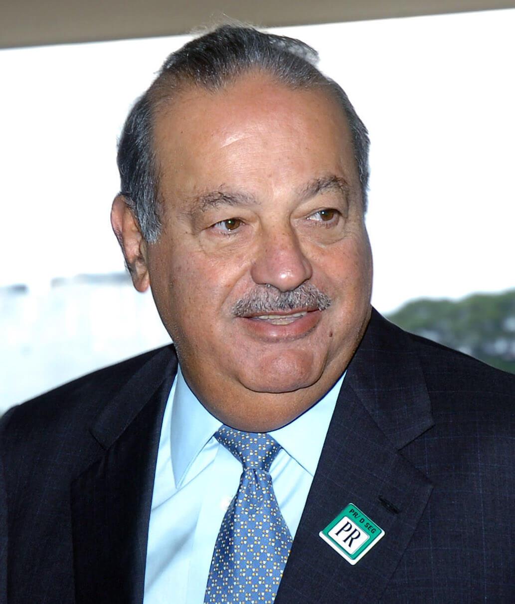 Carlos Slim Helú - Born: January 28th, 1940 in Mexico City, MexicoNet Worth: $64Bn (March 2019)CEO of Telmex, América Móvil and Grupo Carso