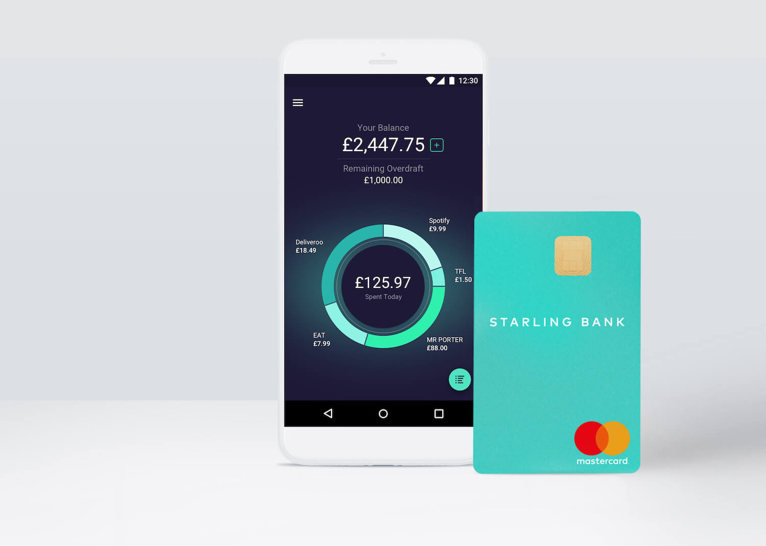 Starling Bank Spending and Balance on App
