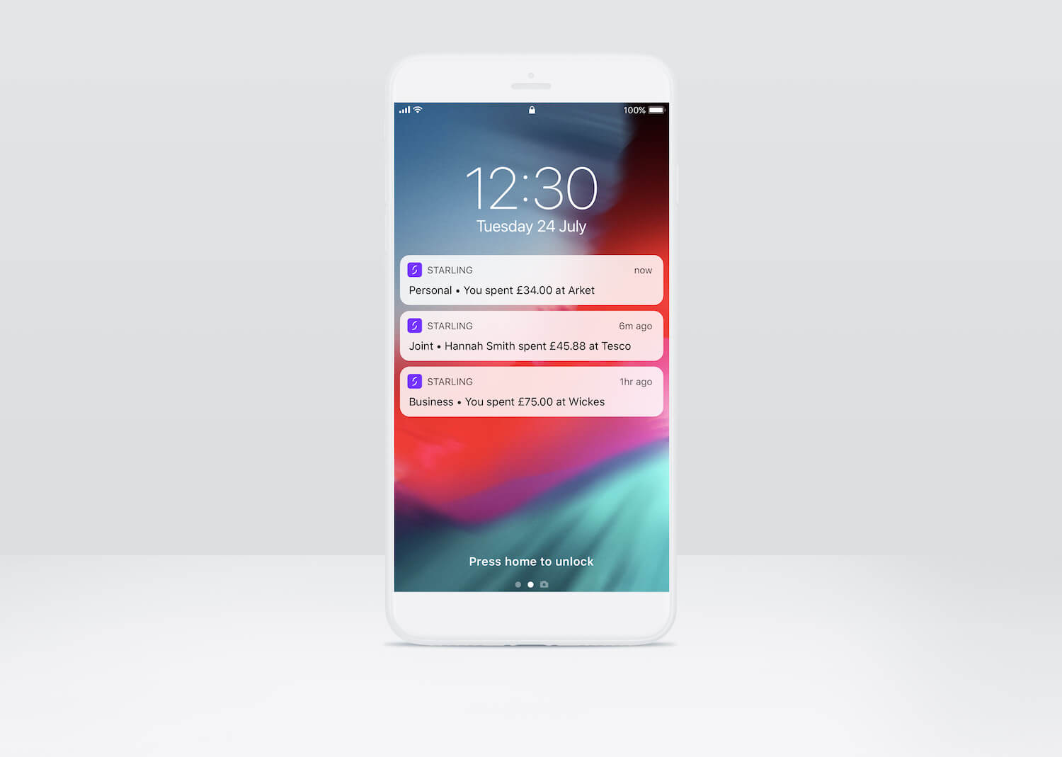 Starling Bank Payment Notifications