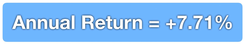My Index Investing - Annual Returns - August 2019 - +7.71%