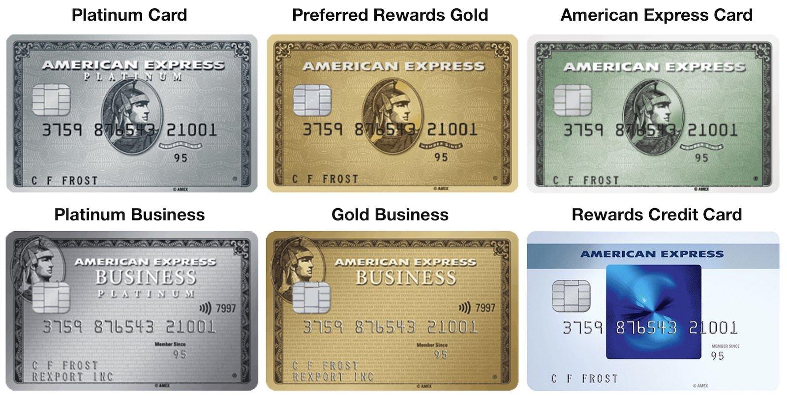 American Express UK MEmberShip Rewards Cards