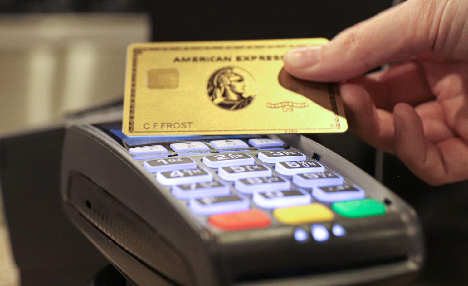 Amex Gold Contactless Payment