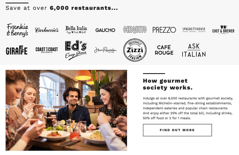 Gourmet Society Club Lloyds Benefit