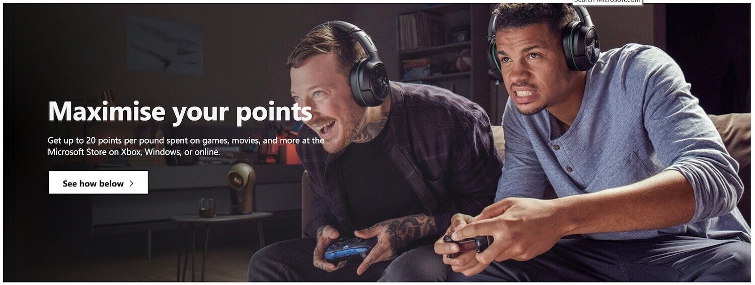 Microsoft Rewards - Earn 20 Points Per £1 With Xbox Live Gold and Level 2