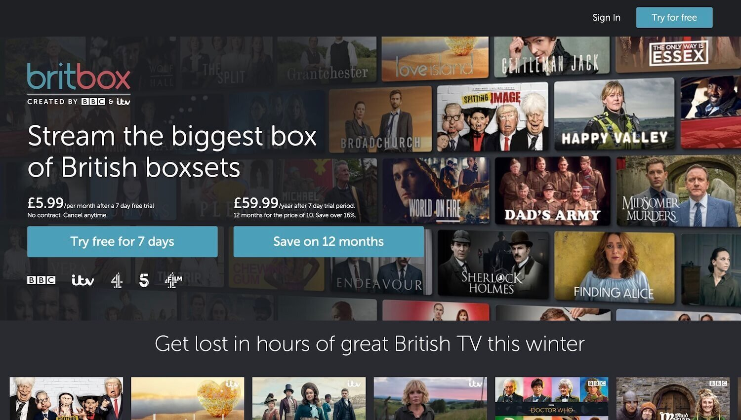 Britbox Streaming Service Deals and Free Trials UK