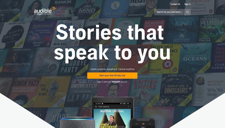 audible Audiobook Deals and Trials Uk