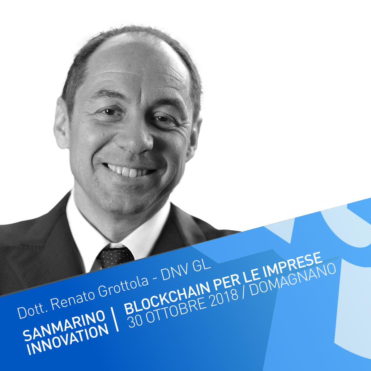 Blockchain e Supply Chain:Verso un nuovo paradigma - Il Dott. Renato Grottola guida la definizione e lo sviluppo delle soluzioni di Digital Assurance basate sulla tecnologia Blockchain per la DNV GL, dove ricopre diversi incarichi di vertice a livello di gruppo.