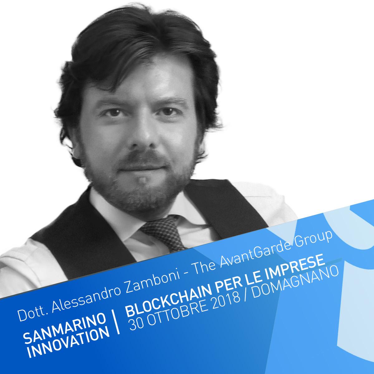 """Supply Chain Finance:Inventory tokenization - Il Dott. Alessandro Zamboni è il presidente di the AvantGarde Group, realtà, specializzata in programmi di innovazione e consulenza strategica per le aziende, che ha lanciato nel 2018 l'Inventory FinTech """"Supply@ME""""."""