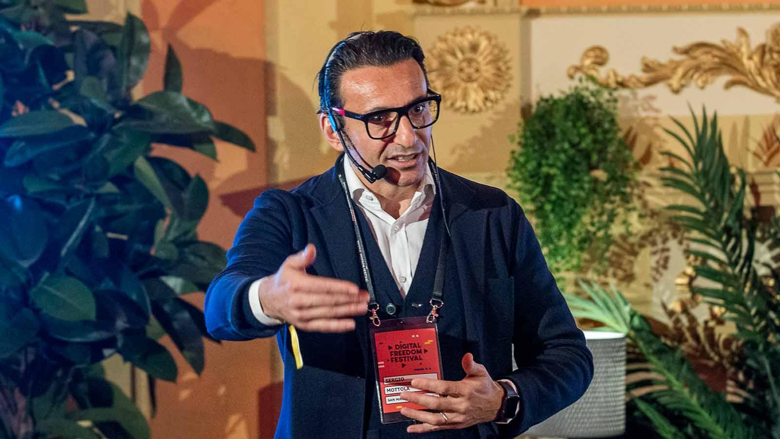 Il Presidente Sergio Mottola al Digital Freedom Festival