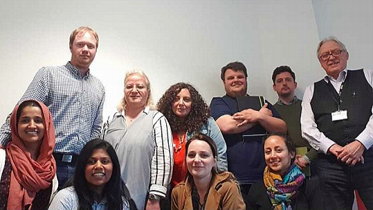 Photo from our inaugural branch committee meeting as a group in Derby with several members; Top L-R: Joshua von Fragstein, Eleni Tracada, CInzia Russo, Mick Hodgson, Paul MacMahon, Graham Markwell Bottom L-R: Ayesha Batool, Rangika Fernandopulle, Kasia Jakus-Lechowska & Andreina Marquina Portillo