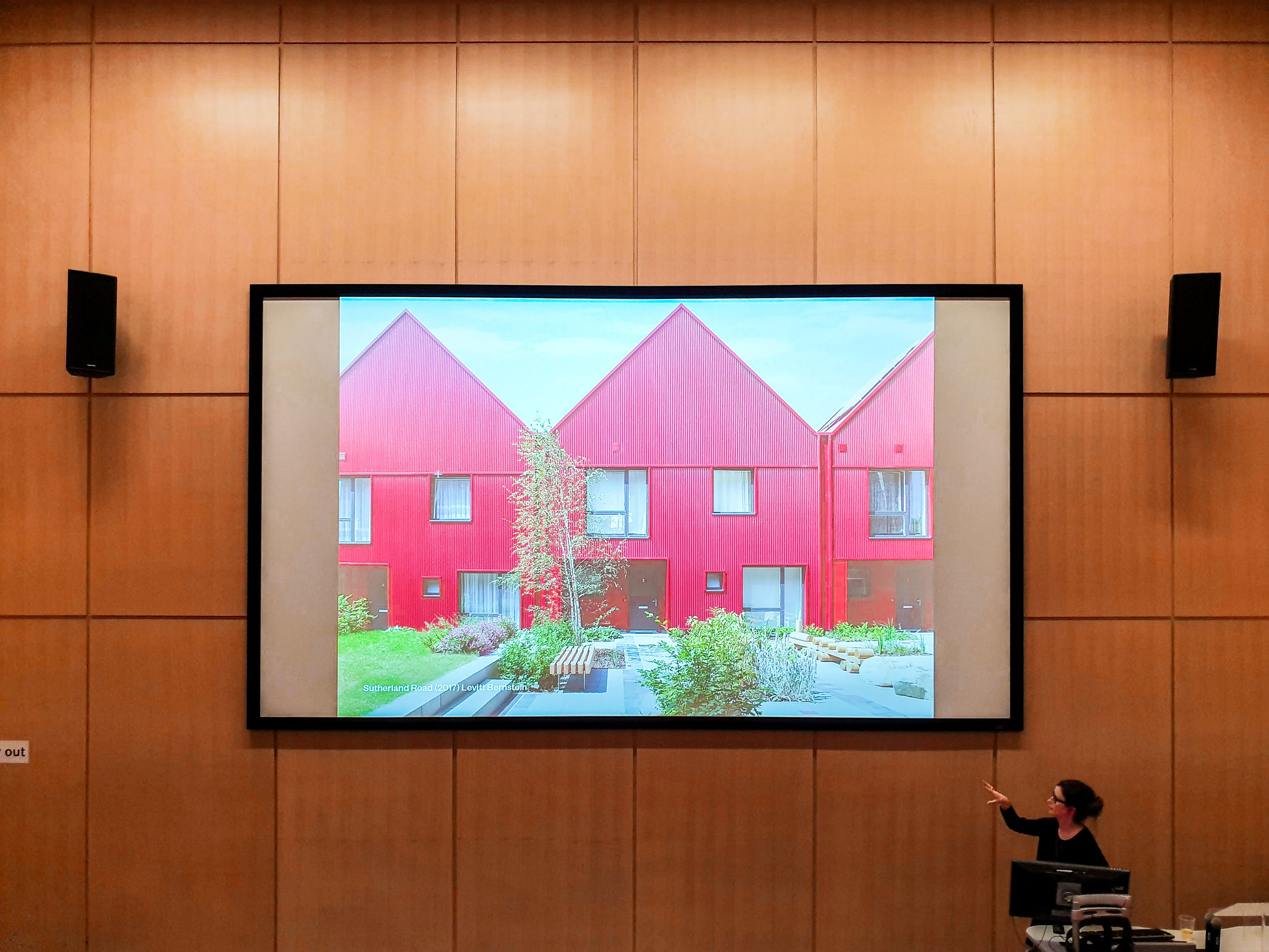 Levitt Bernstein director Jo McCafferty delivers a guest lecture for the Nottingham Trent Architecture Society