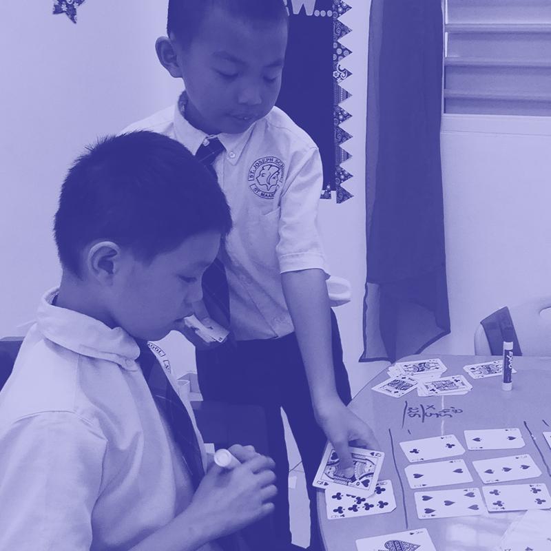 Rekencircuit op de St. Joseph Primaryschool.