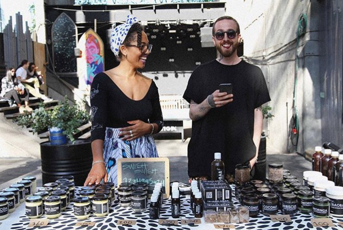 Wife-and-husband duo Opokua and Andreas Britton-Cavaco, Stockholm-based Skin Gourmet Europe branch founders. Courtesy of  Skin Gourmet Sweden .