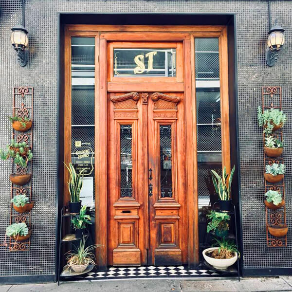 The famous doors of San Telmo restaurant