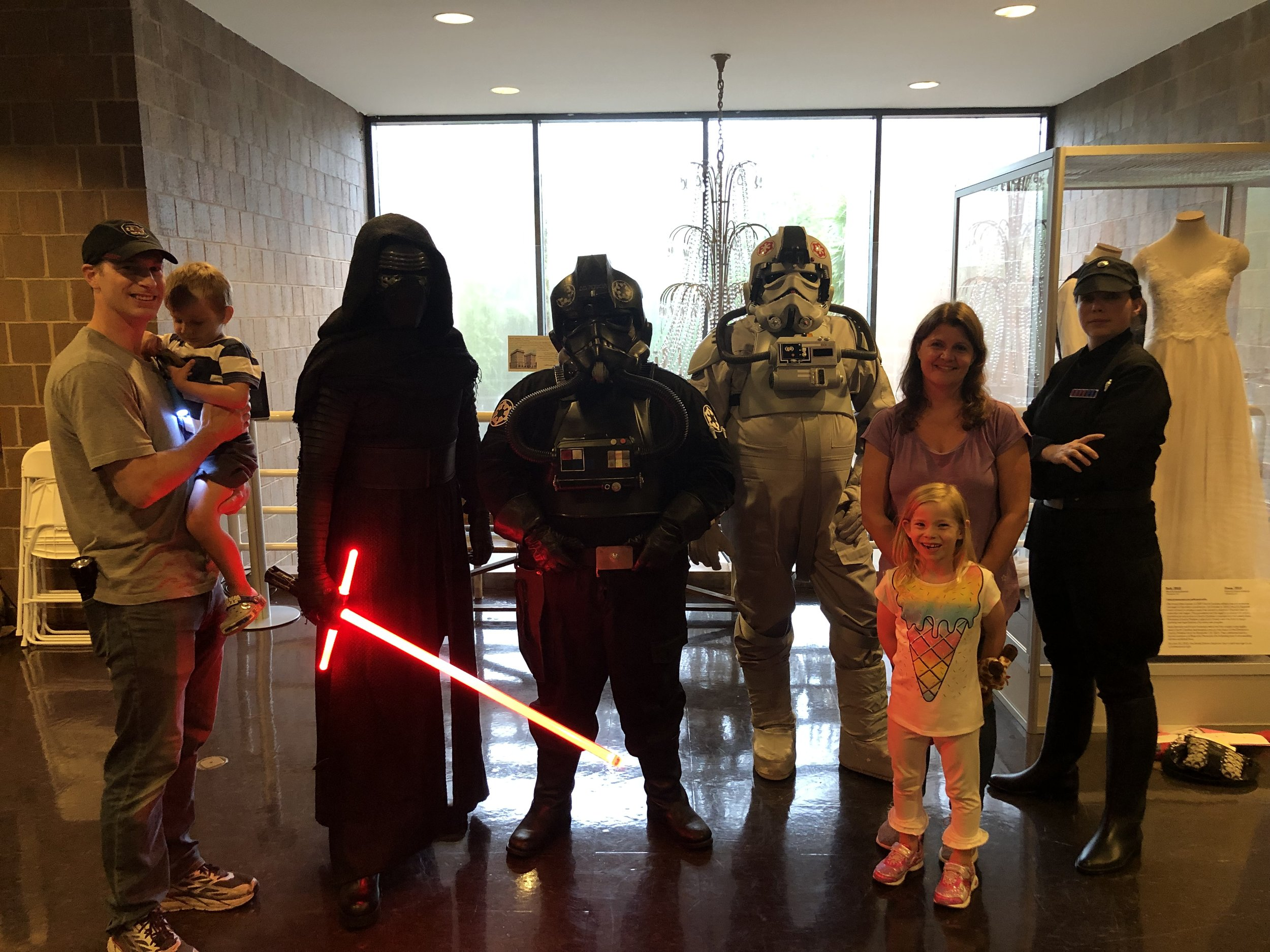 Posing with Kylo-Ren and some other imposing Star Wars characters!