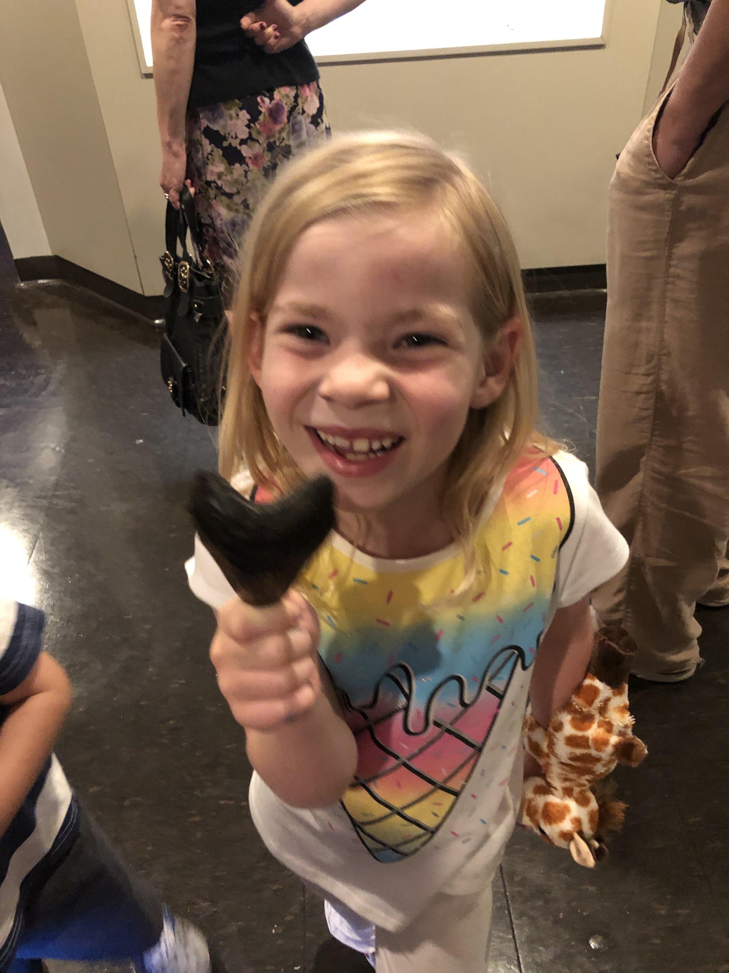 Gabriella got to bring home a Megalodon tooth!