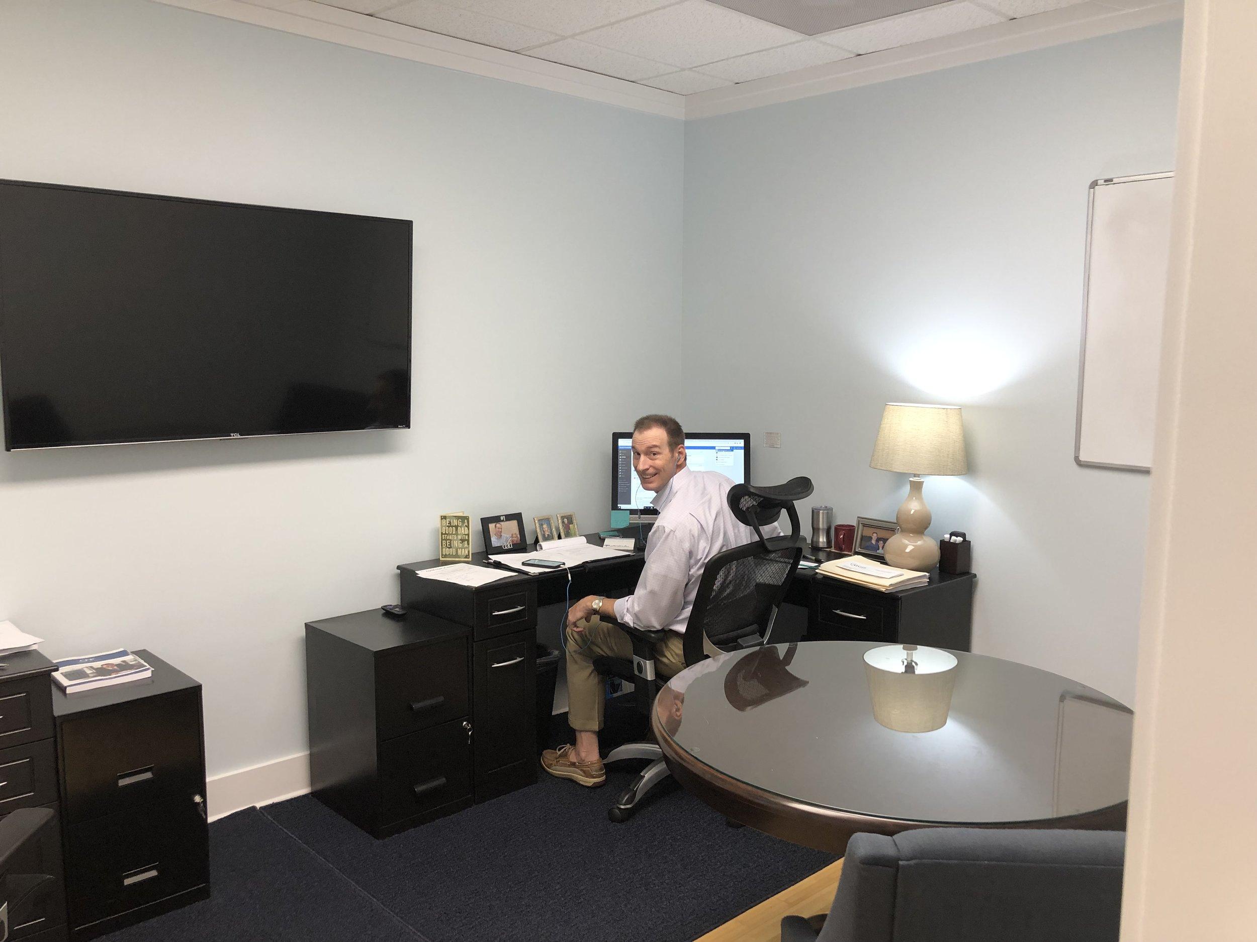 Jamie Runey in his office