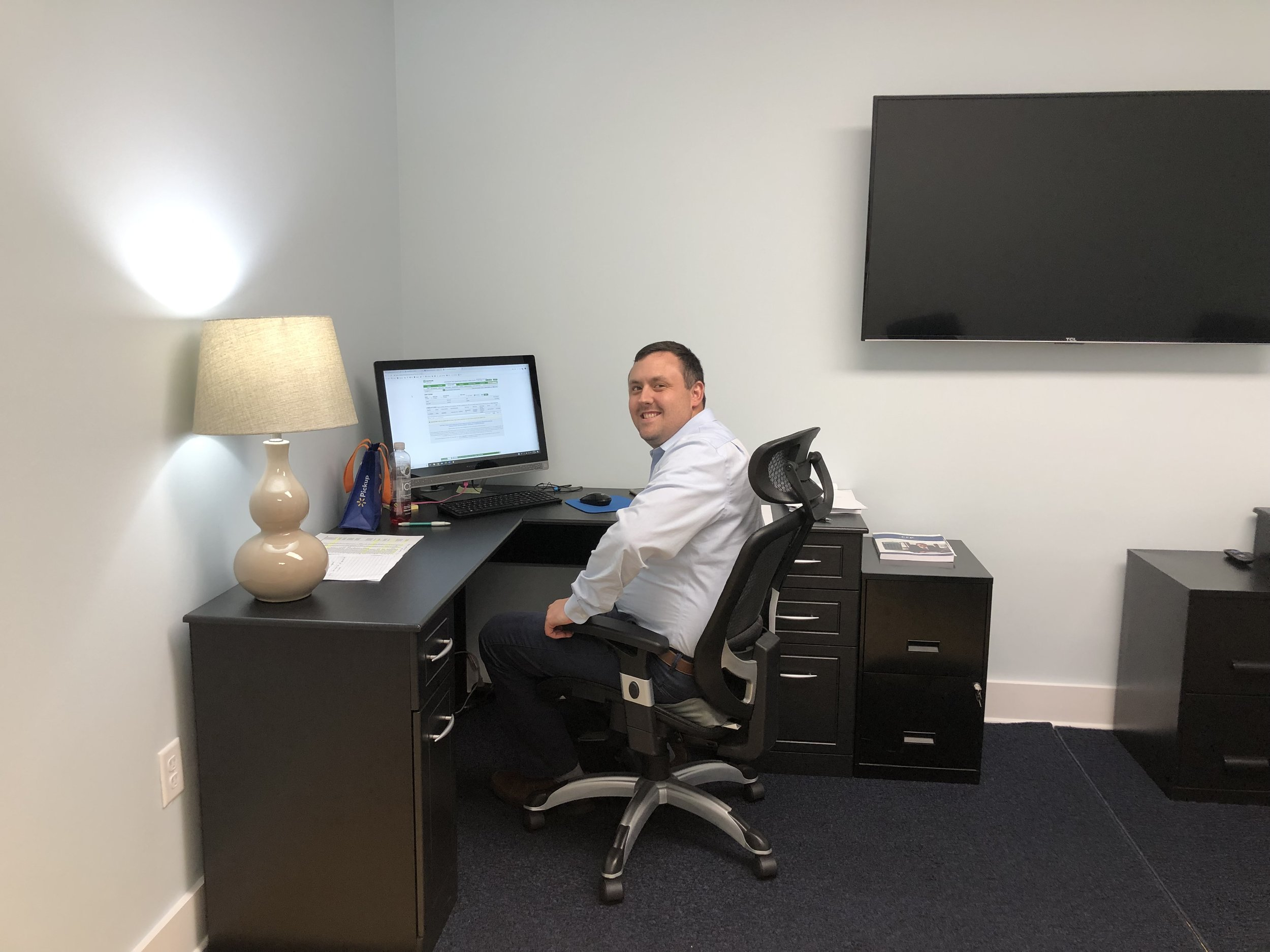 James Palmer in his office
