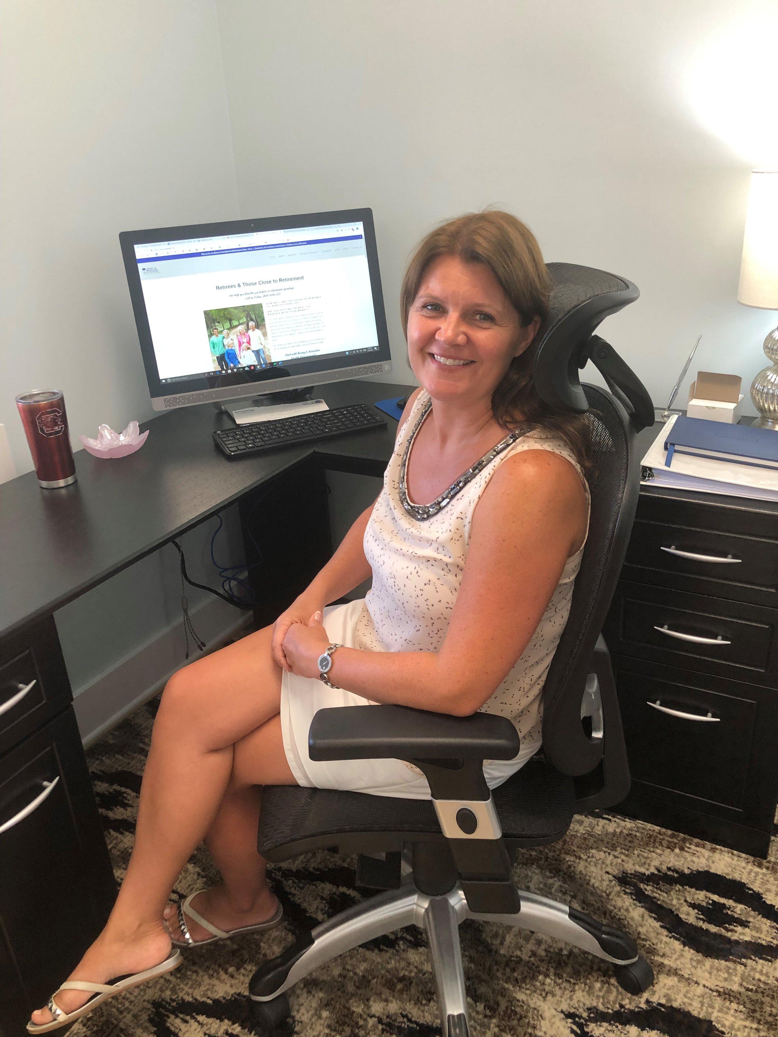 Linda Runey in her office