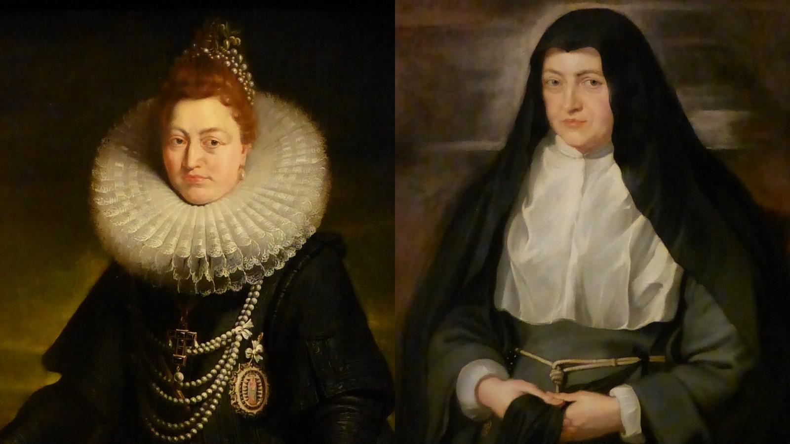 """Illustration : Archiduchesse Isabelle """"avant et après"""" de Pierre-Paul Rubens"""