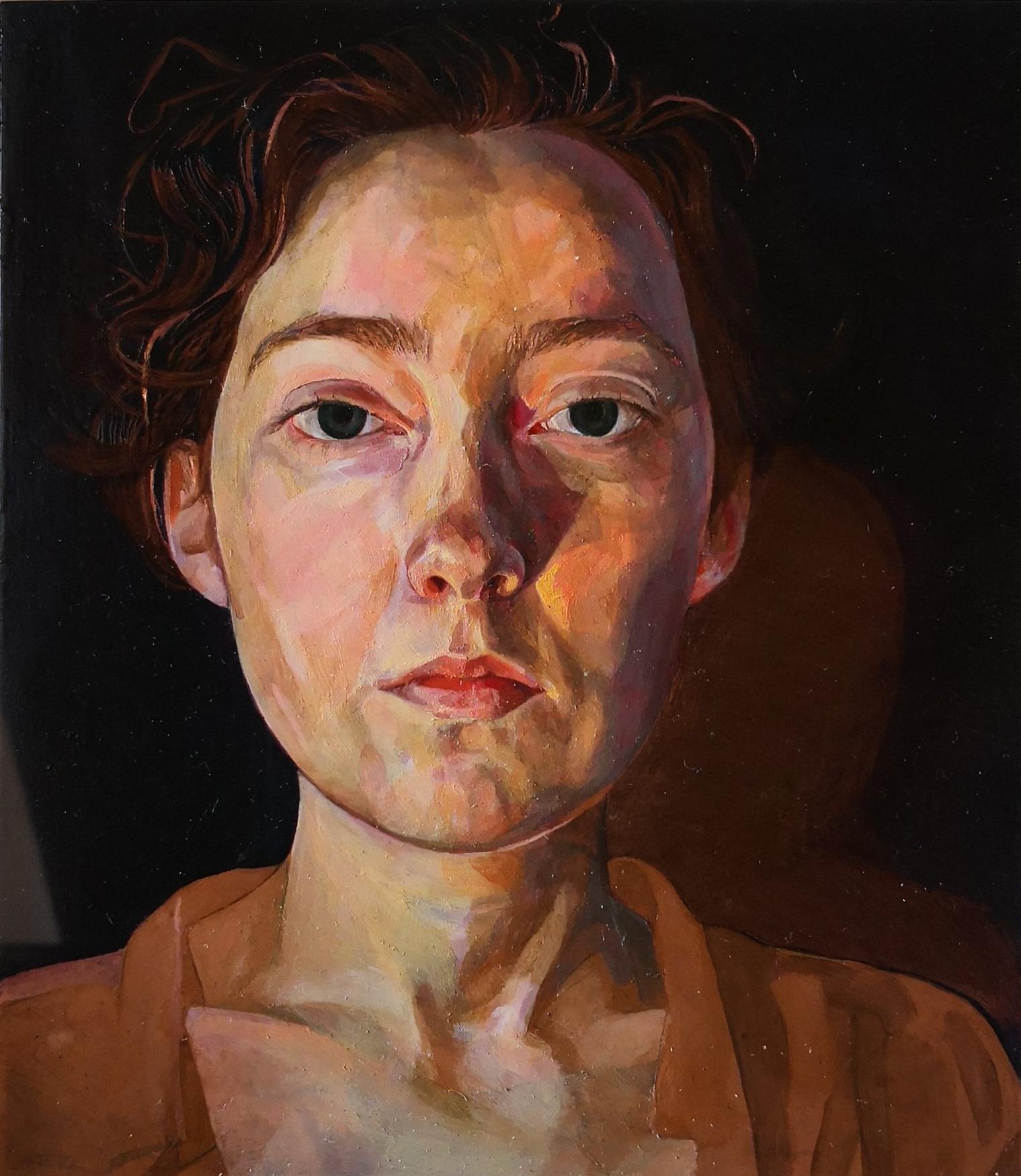 'A minute till midnight' (2017) Oil on copper, 25 x 22.5 cm