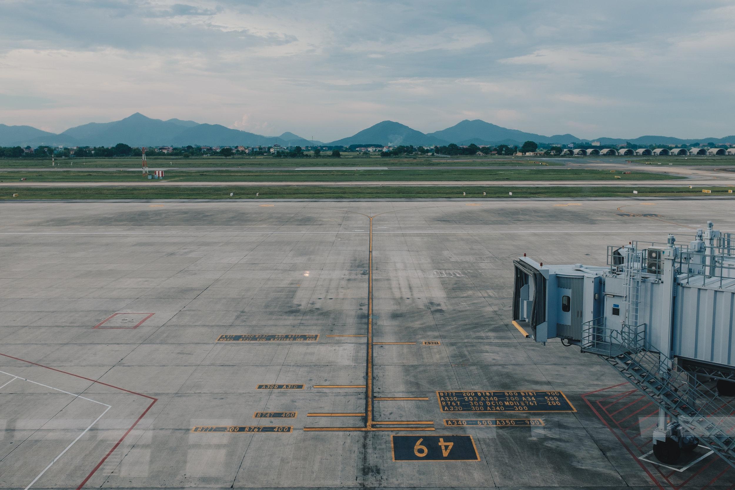 Waiting for my flight home at Hanoi's Noi Bai International Airport