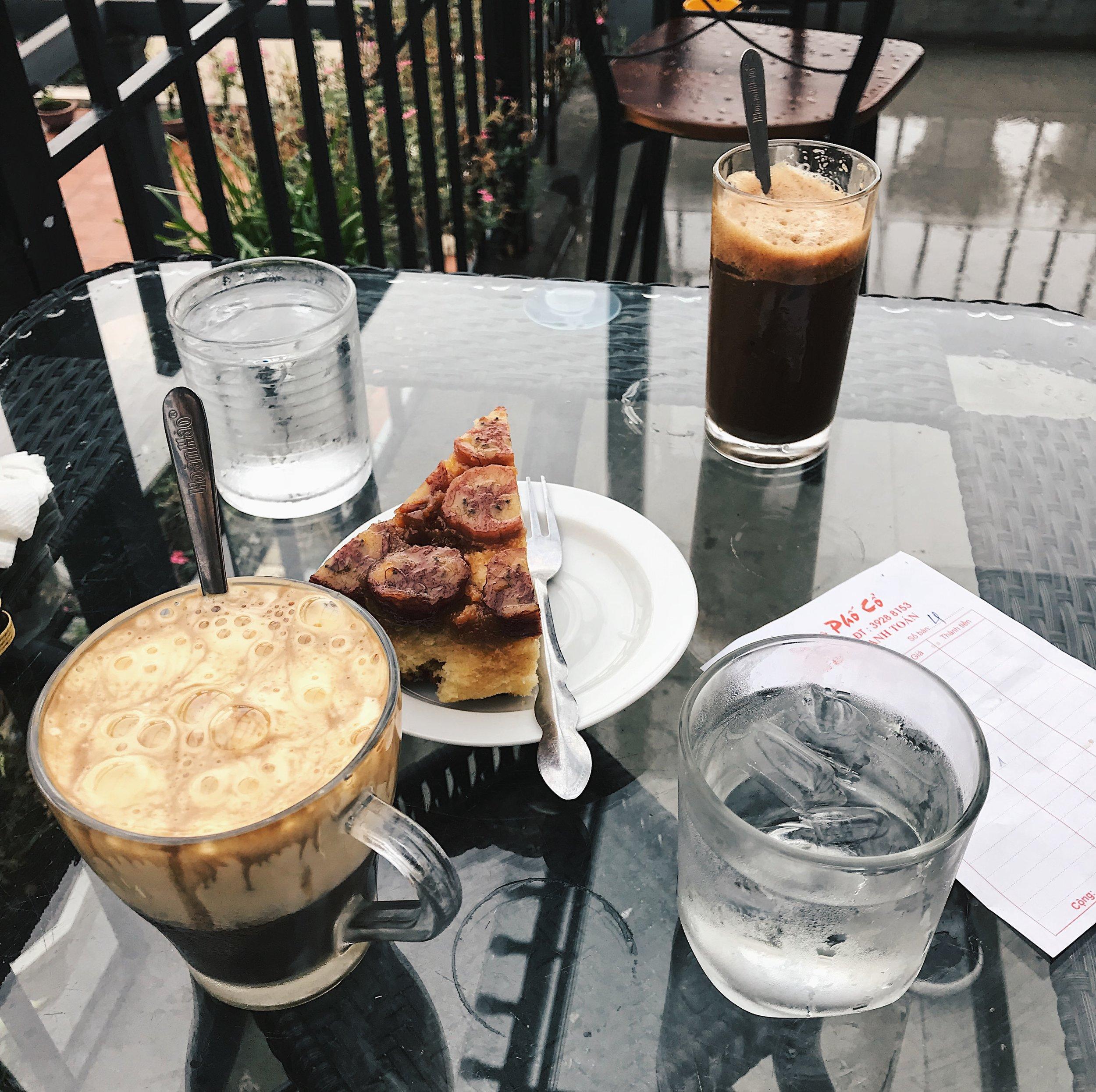 Breakfast at Cafe Pho Co overlooking Hoan Kiem Lake