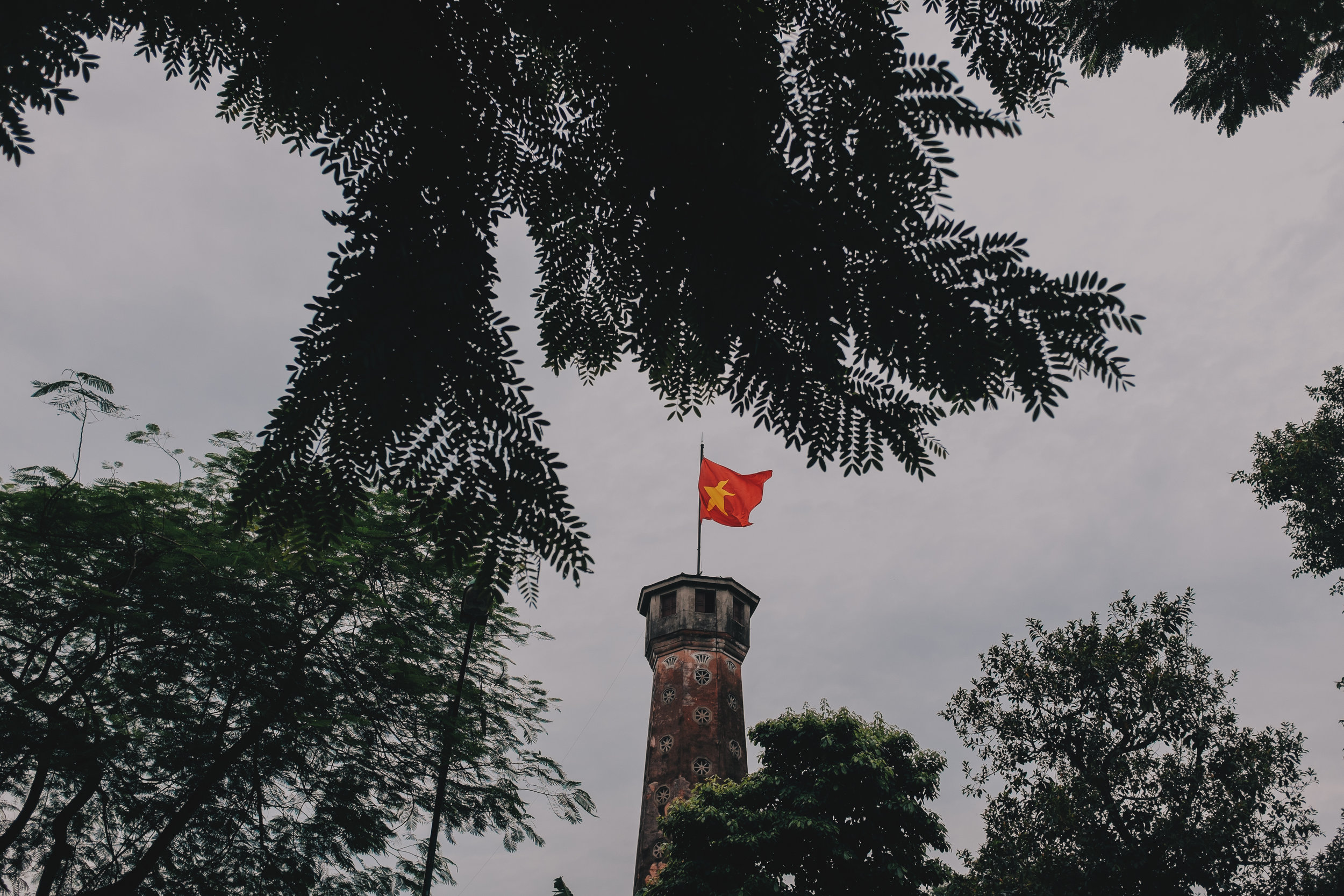 The Flag Tower of Hanoi is located in the Ba Đình district and is part of the Hanoi Citadel, a World Heritage Site