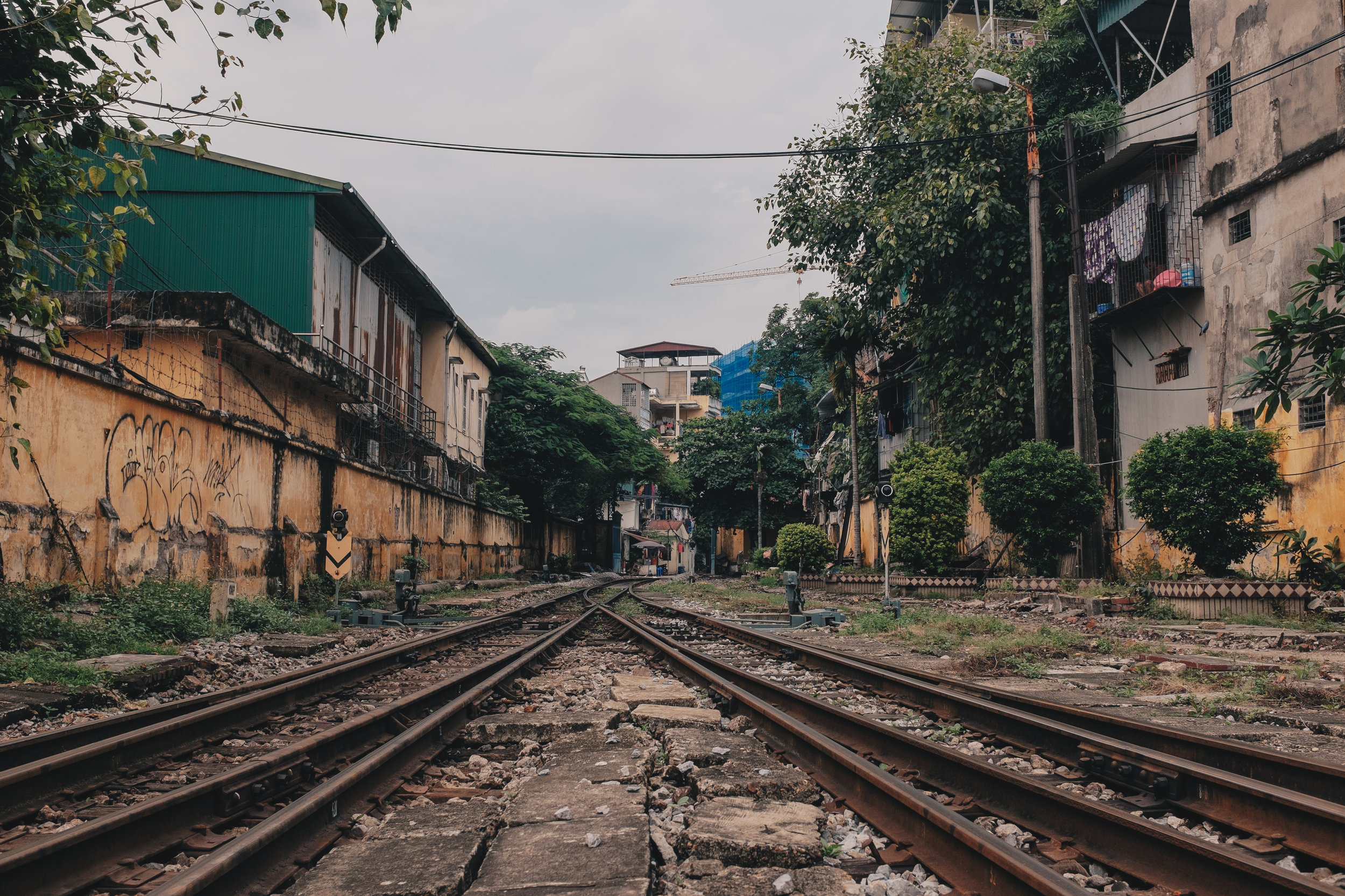 The look outwards from Ga Ha Noi - the Central Railway Station of Hanoi