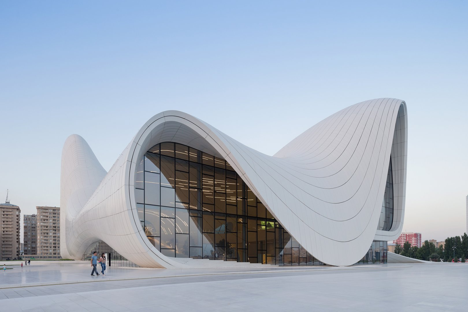 The Heydar Aliyev Center - commissioned for by the Ministry of Culture and Tourism of Azerbaijan,photo from zaha-hadid.com