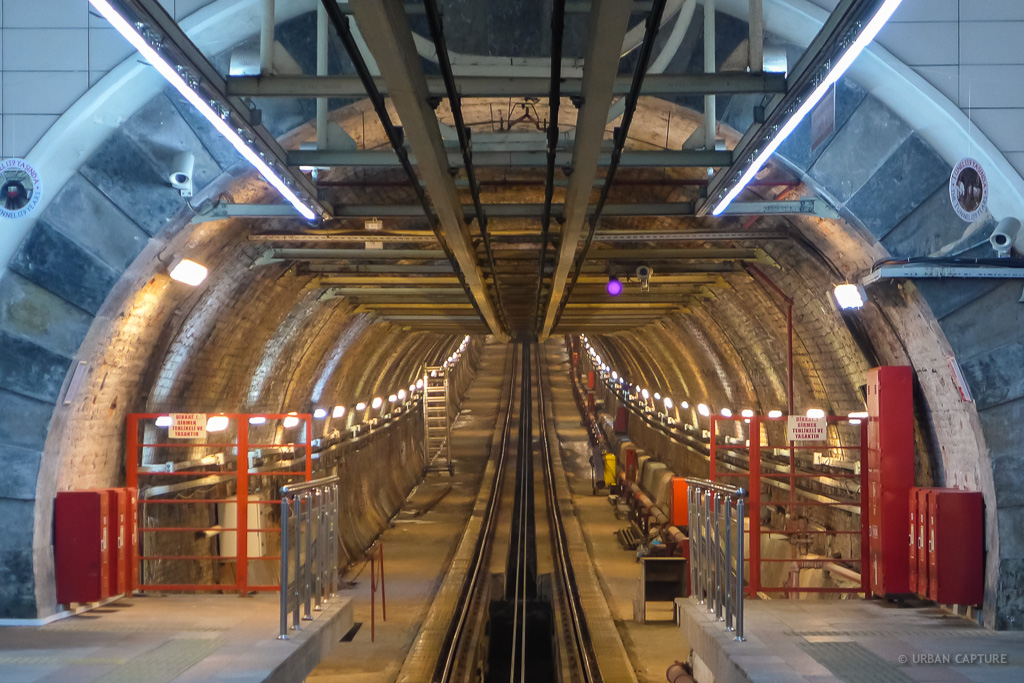 The Tünel in Istanbul is a funicular that has been operating since 1875, photo from urbancapture.com
