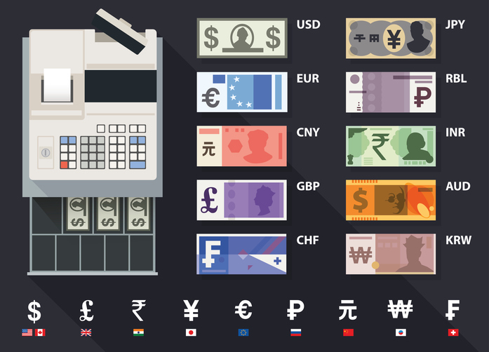 Various global currencies, picture from   internationalfinance  .  com