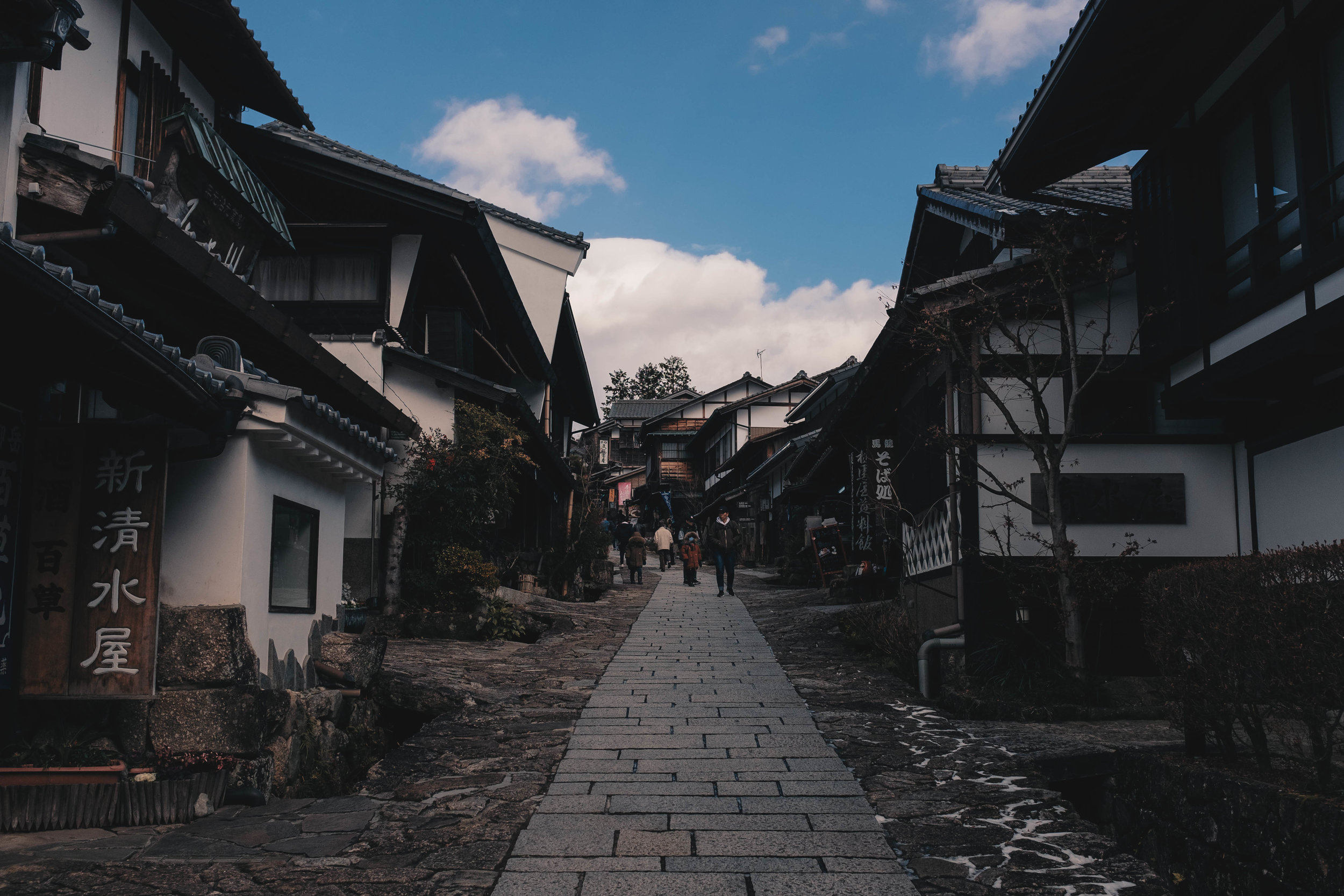 Magome is pretty hill and is located at one of the highest points of the Kiso Valley area in Japan
