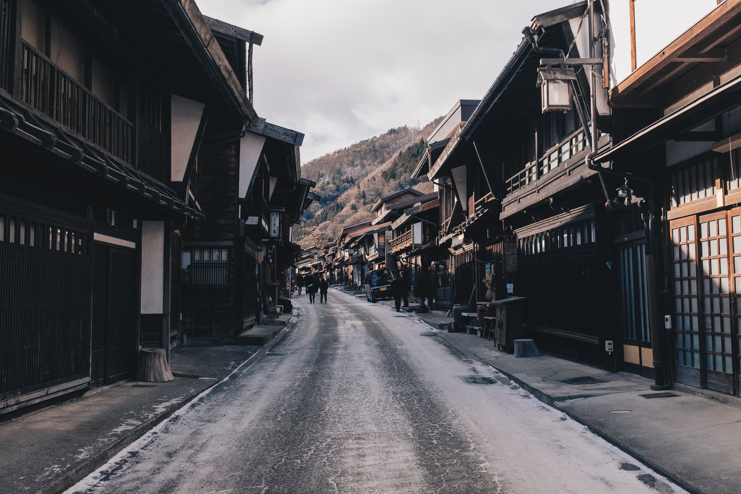 The main thoroughfare of Narai was once the busiest stretch of the all the post towns lining the Nakasendo trail