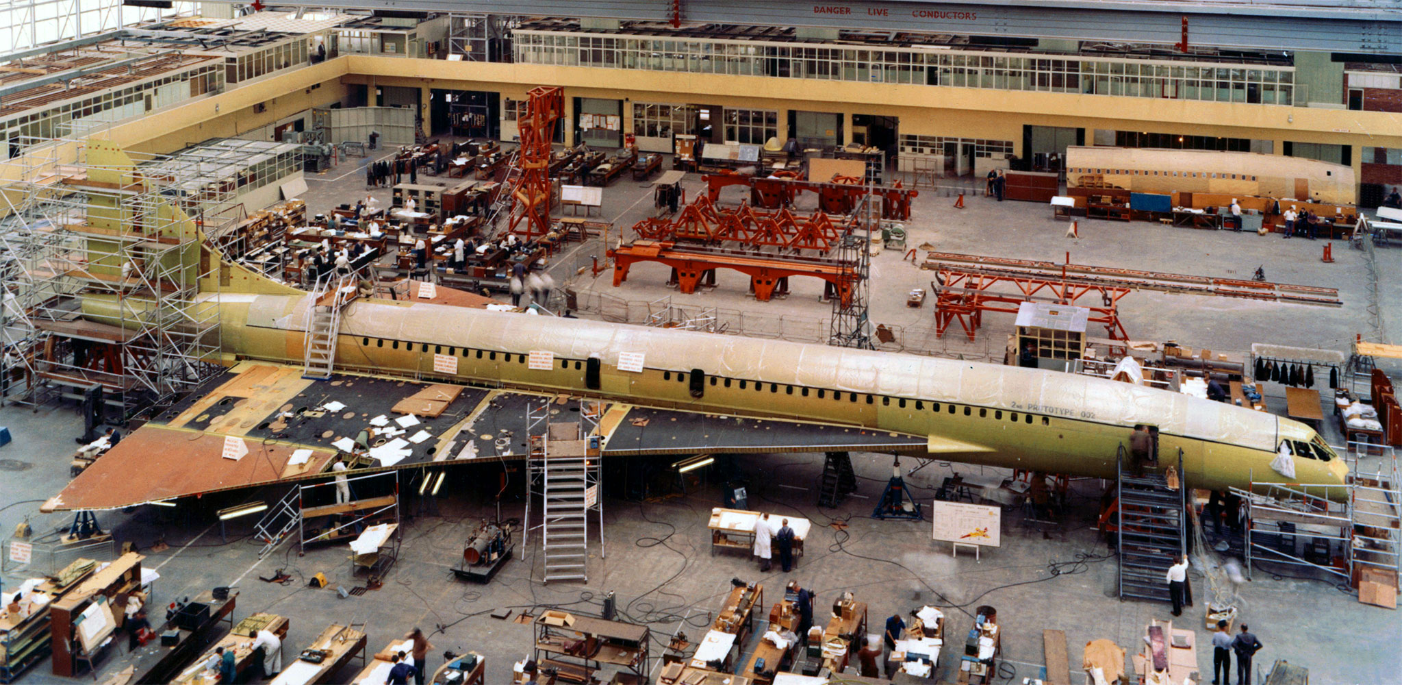 Concorde in its production stages, photo from   www  .  aircraft  -  info  .  net