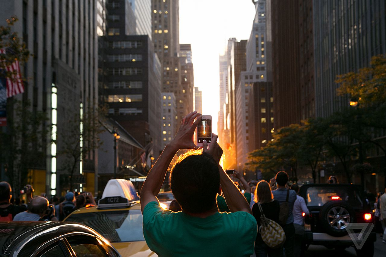 Manhattanhenge is a perennial favourite for tourists,  photo from TheVerge